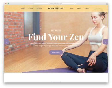 Yogastudio Free Template
