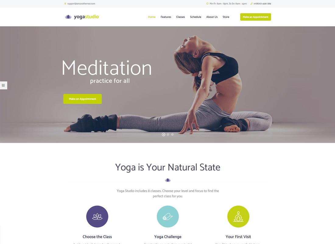 Yogastudio | Yoga, Gym and Healthcare WordPress Theme