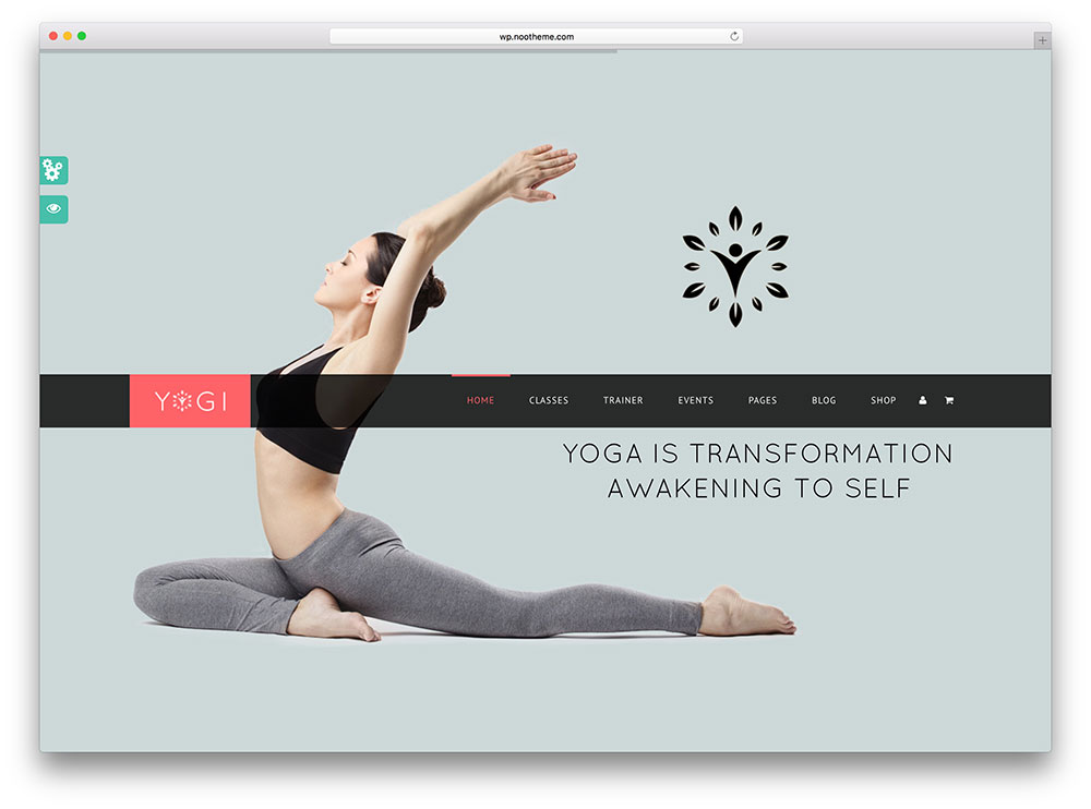 yogi- fullscreen yoga theme