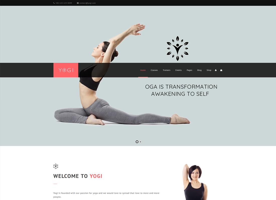 Yogi | Health Beauty & Yoga WordPress Theme