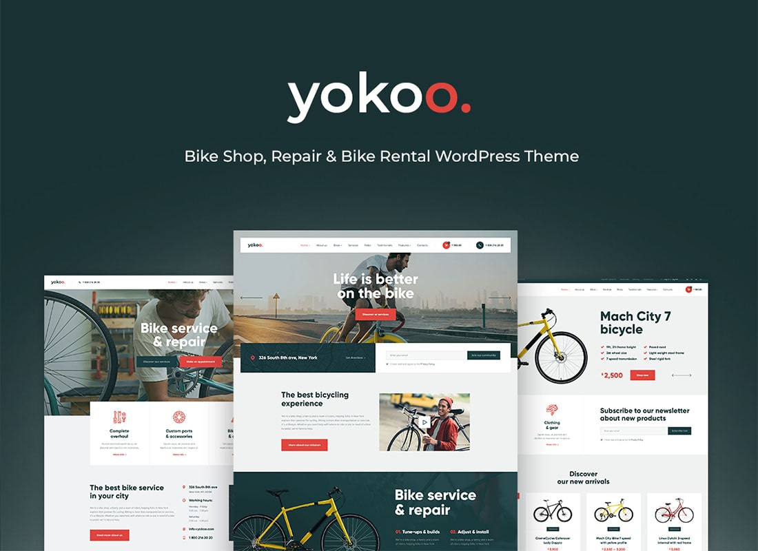 Yokoo - Bike Shop & Rental WordPress Theme