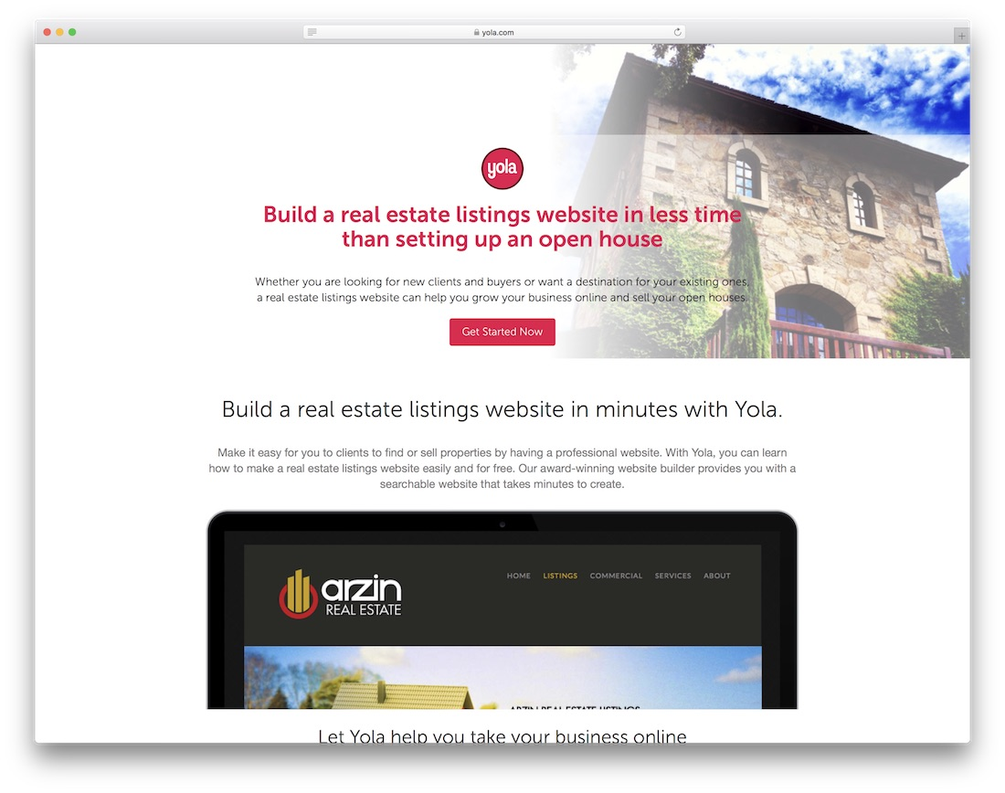 yola real estate website builder