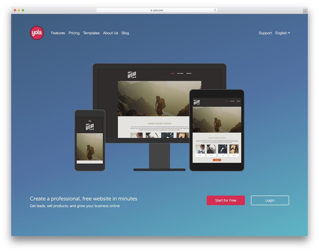 yola website builder and hosting