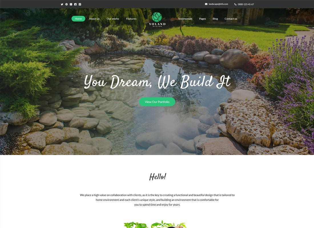 Yoland | Landscape Design & Garden Accessories Store WordPress Theme