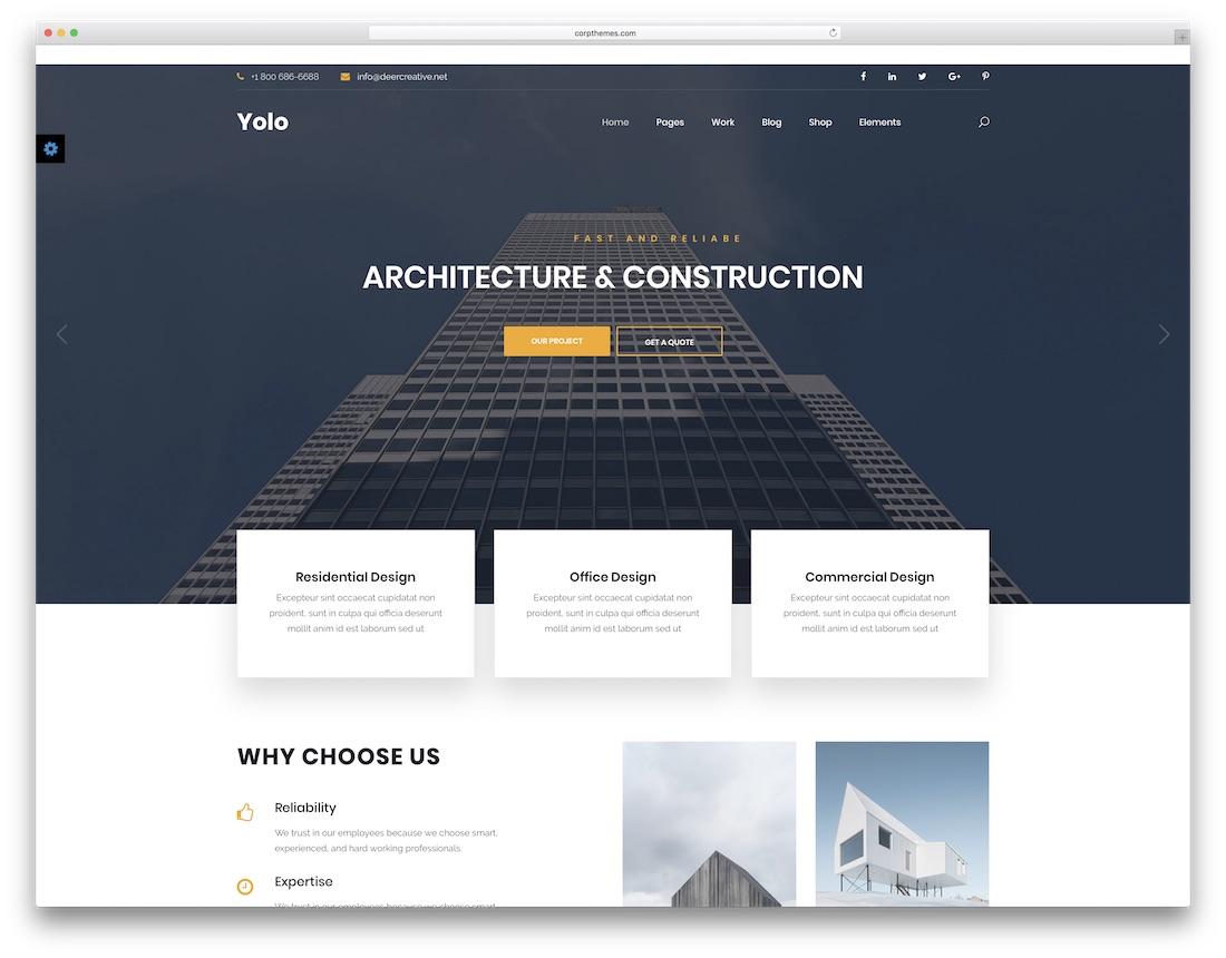yolo interior design website template