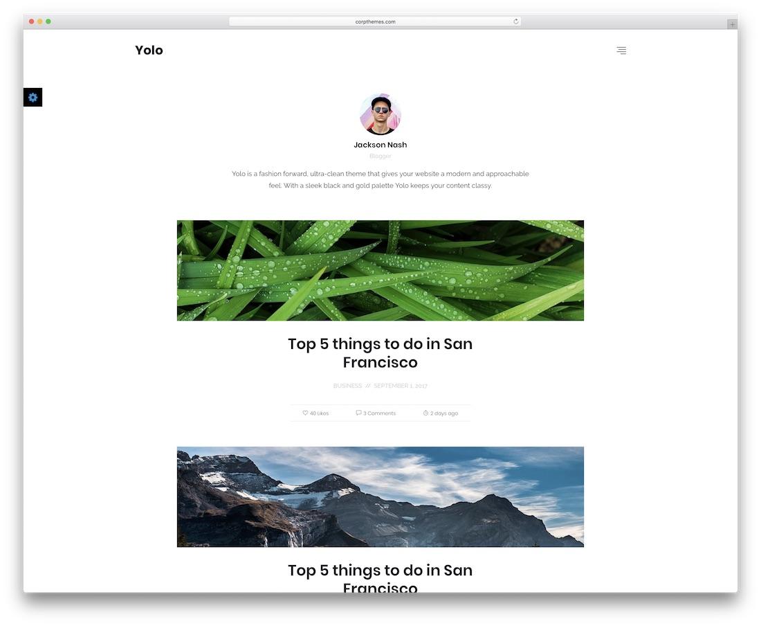 yolo news website template
