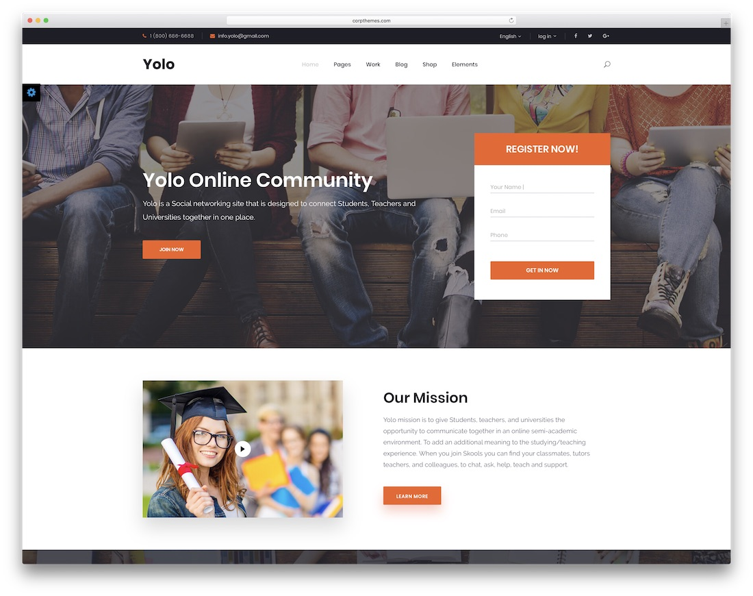 yolo community website template