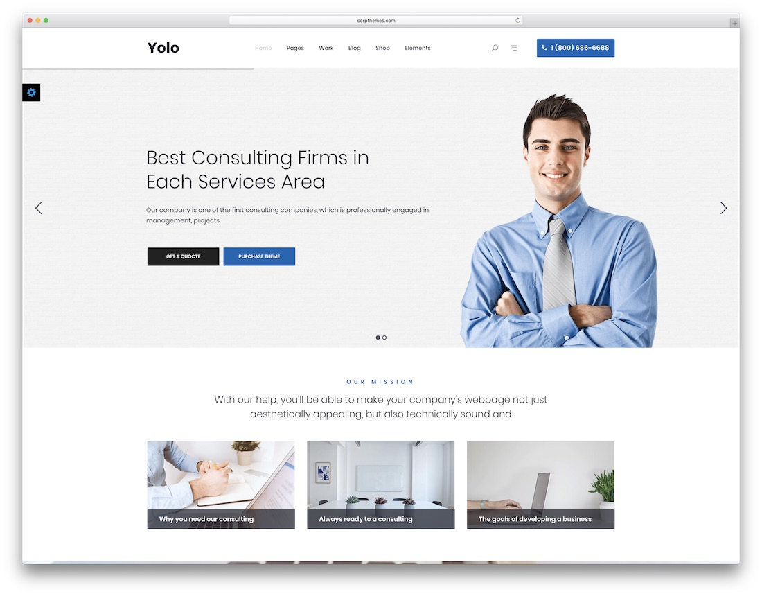yolo consulting website template