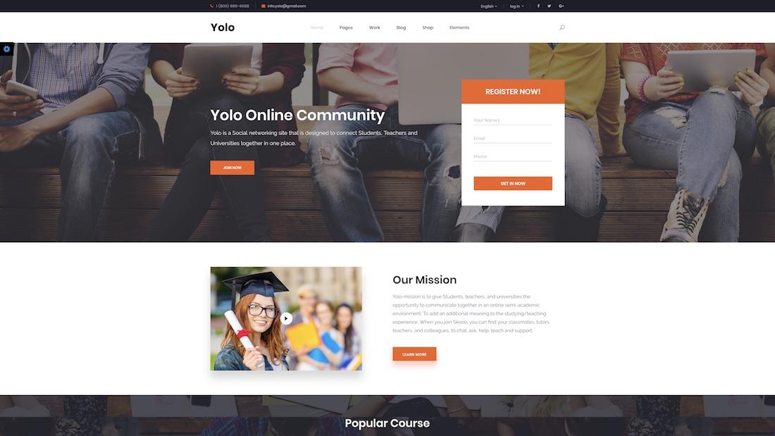 yolo website template