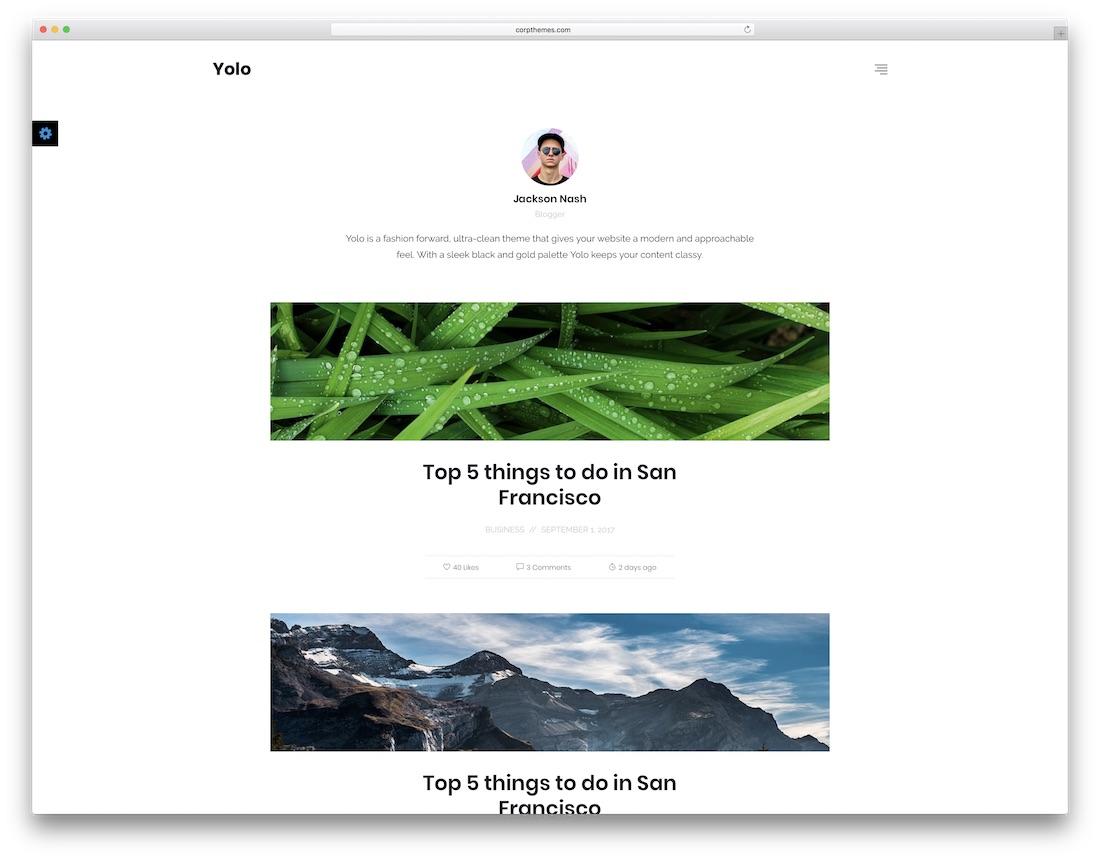 yolo writer website template