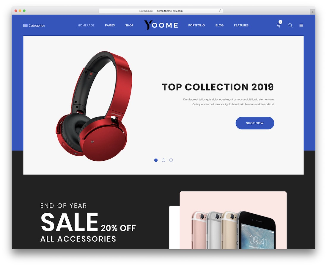 yoome technology woocommerce theme