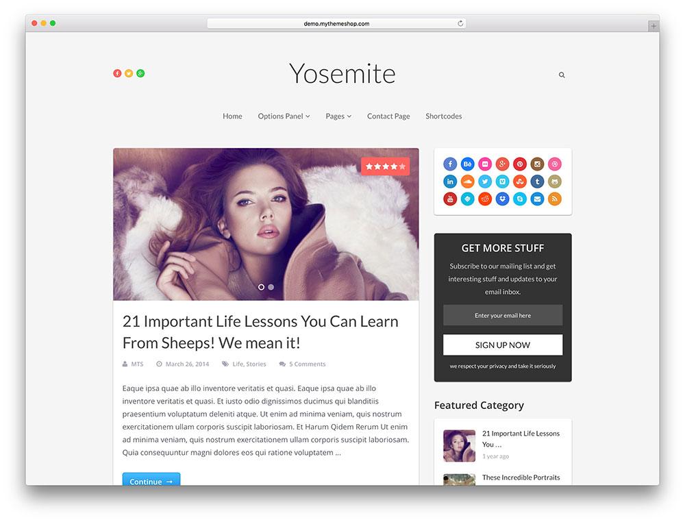 yosemite minimal viral theme