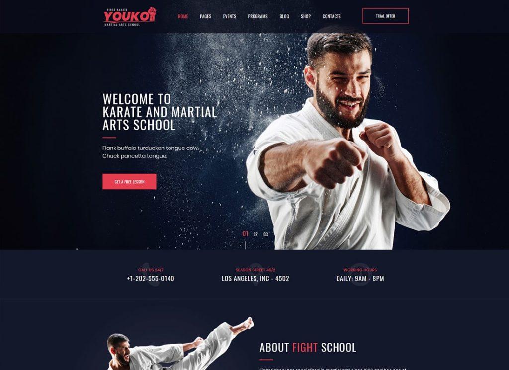 Youko | Martial Arts WordPress Theme
