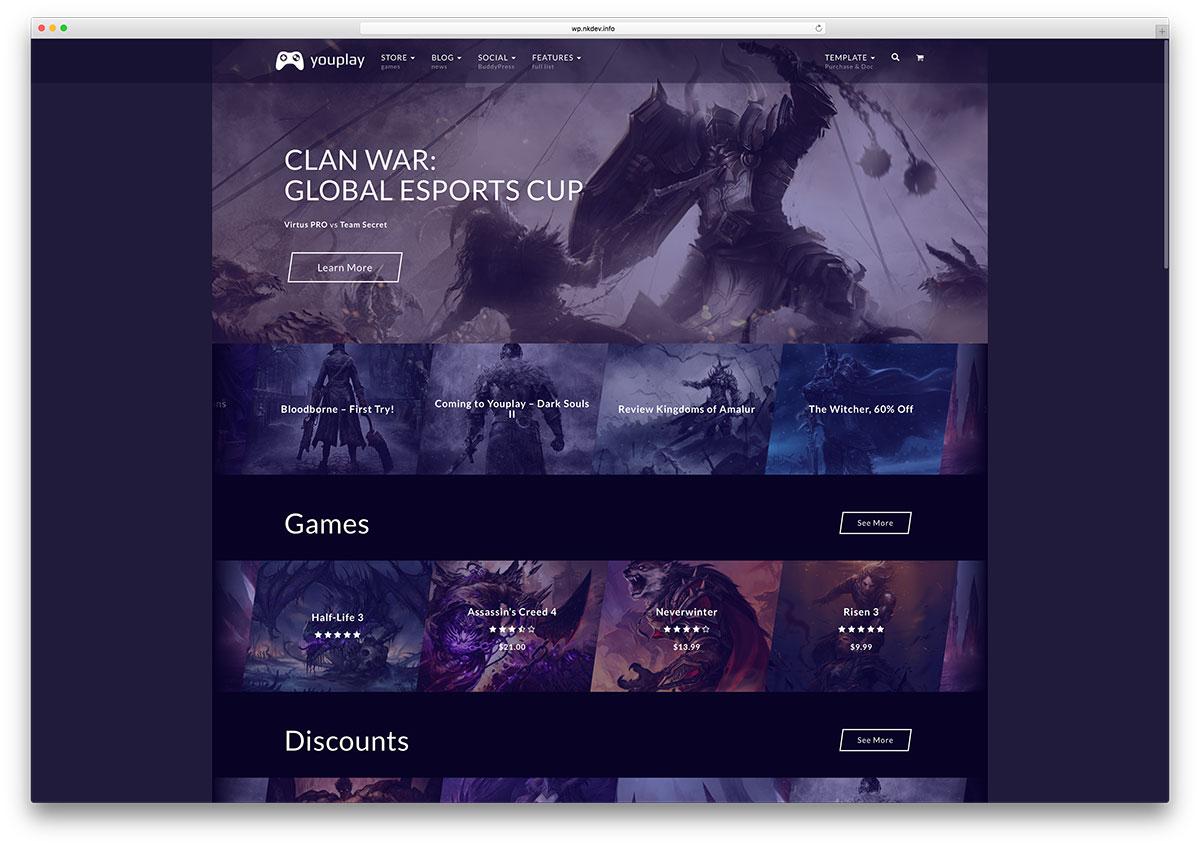 youplay-creative-gaming-review-wordpress-theme