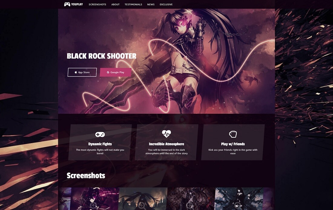 youplay gaming HTML website template