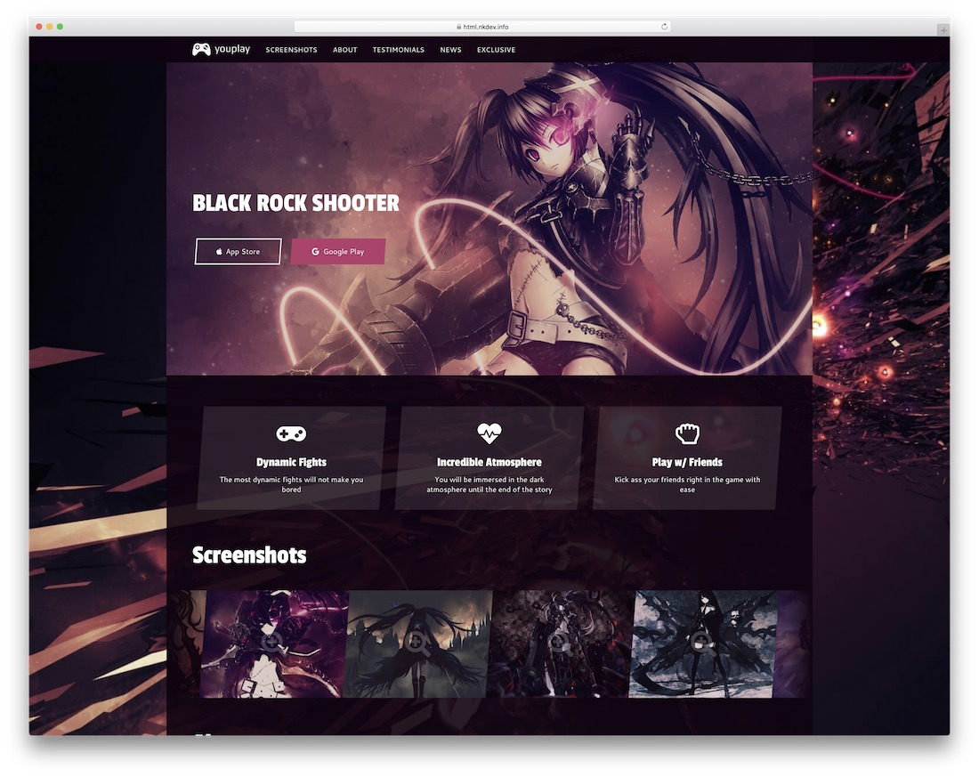 youplay gaming website template