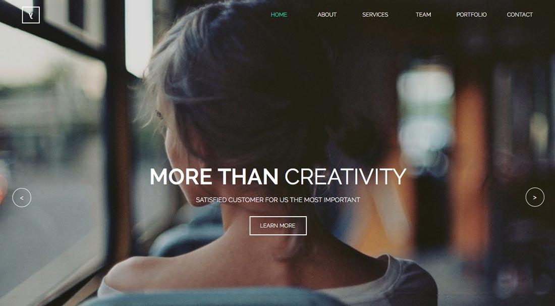 creative adobe muse theme