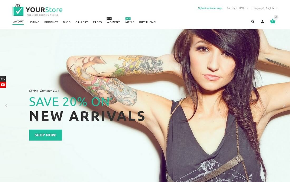 yourstore fashion shopify theme