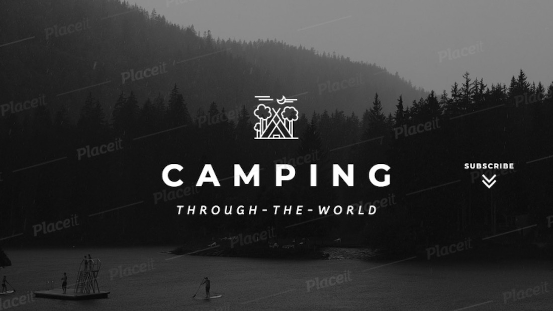 youtube banner maker for a camping channel