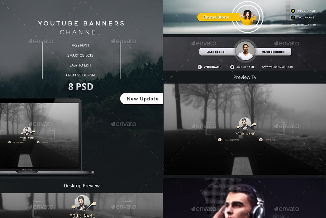 youtube channel banners