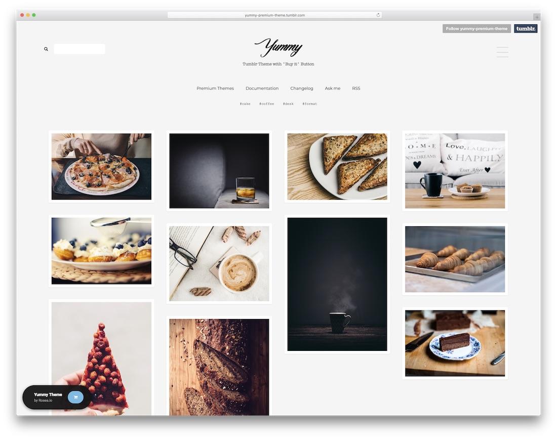yummy tumblr theme