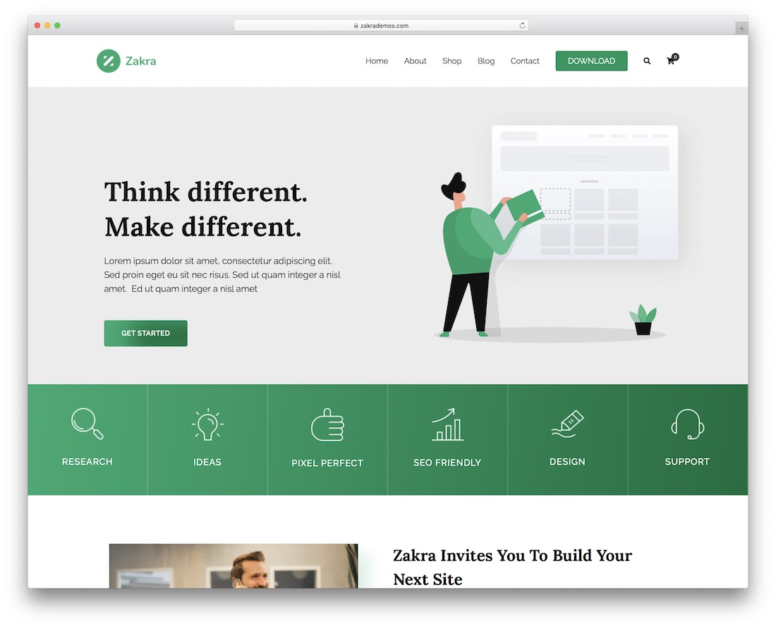 zakra free multipurpose wordpress theme