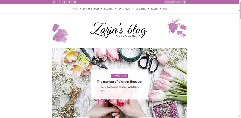 Zarja Blog - WordPress Blog Theme