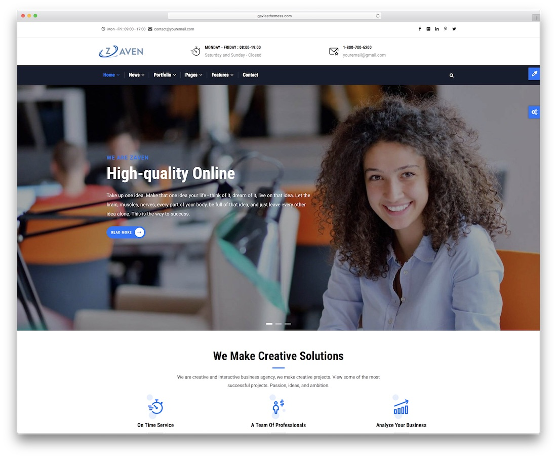 zaven drupal business template