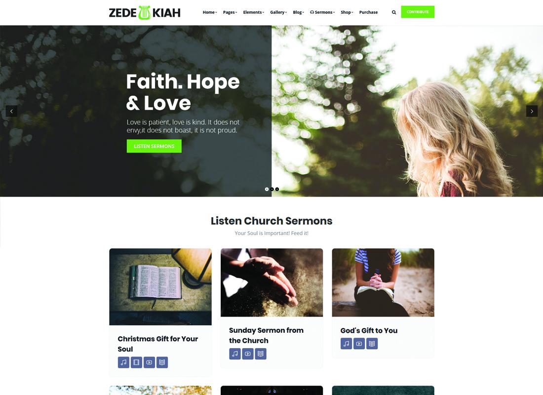 Zedekiah - MultiPurpose Church & Religion WordPress Theme