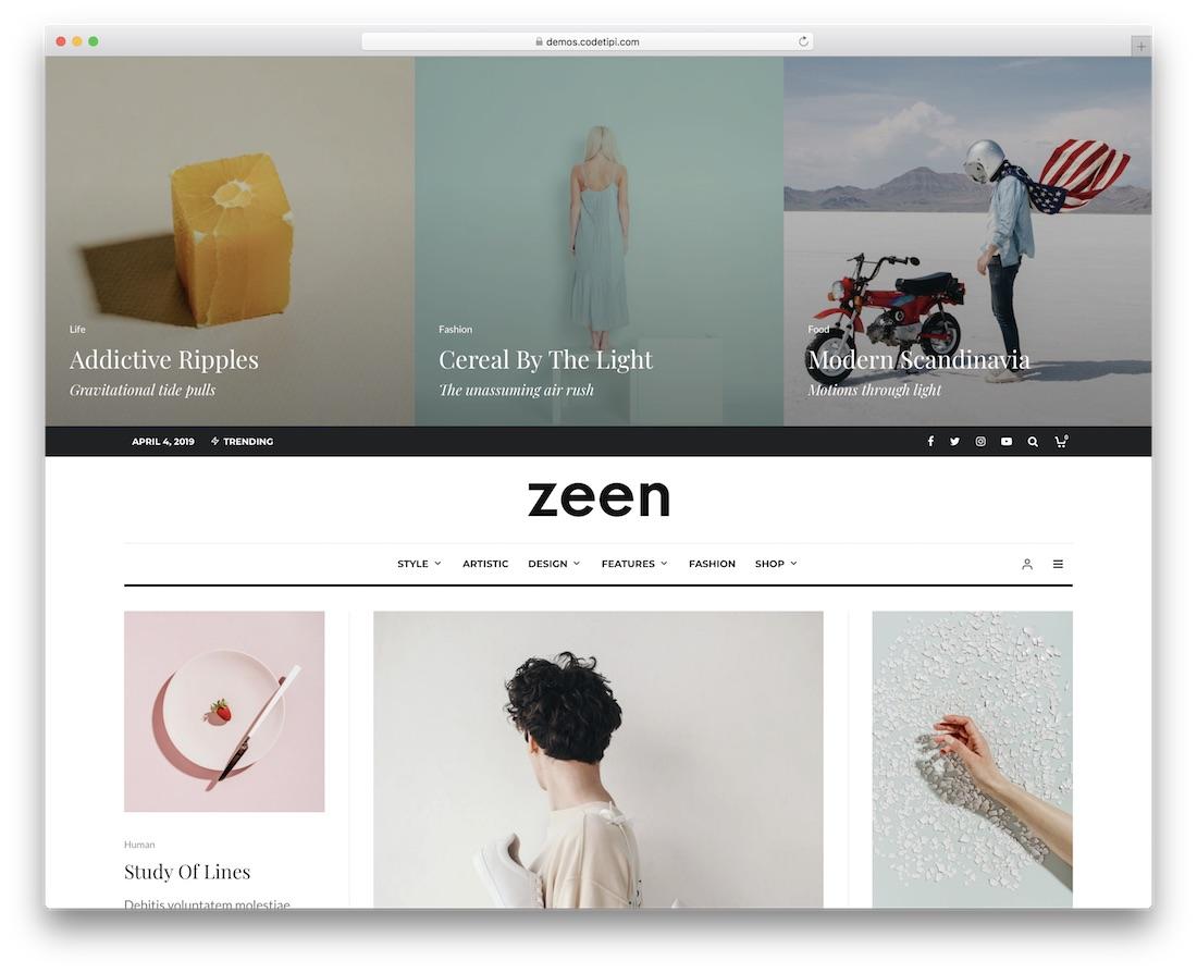 zeen wpml compatible wordpress theme