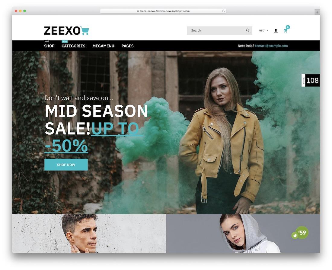 zeexo boutique shopify theme