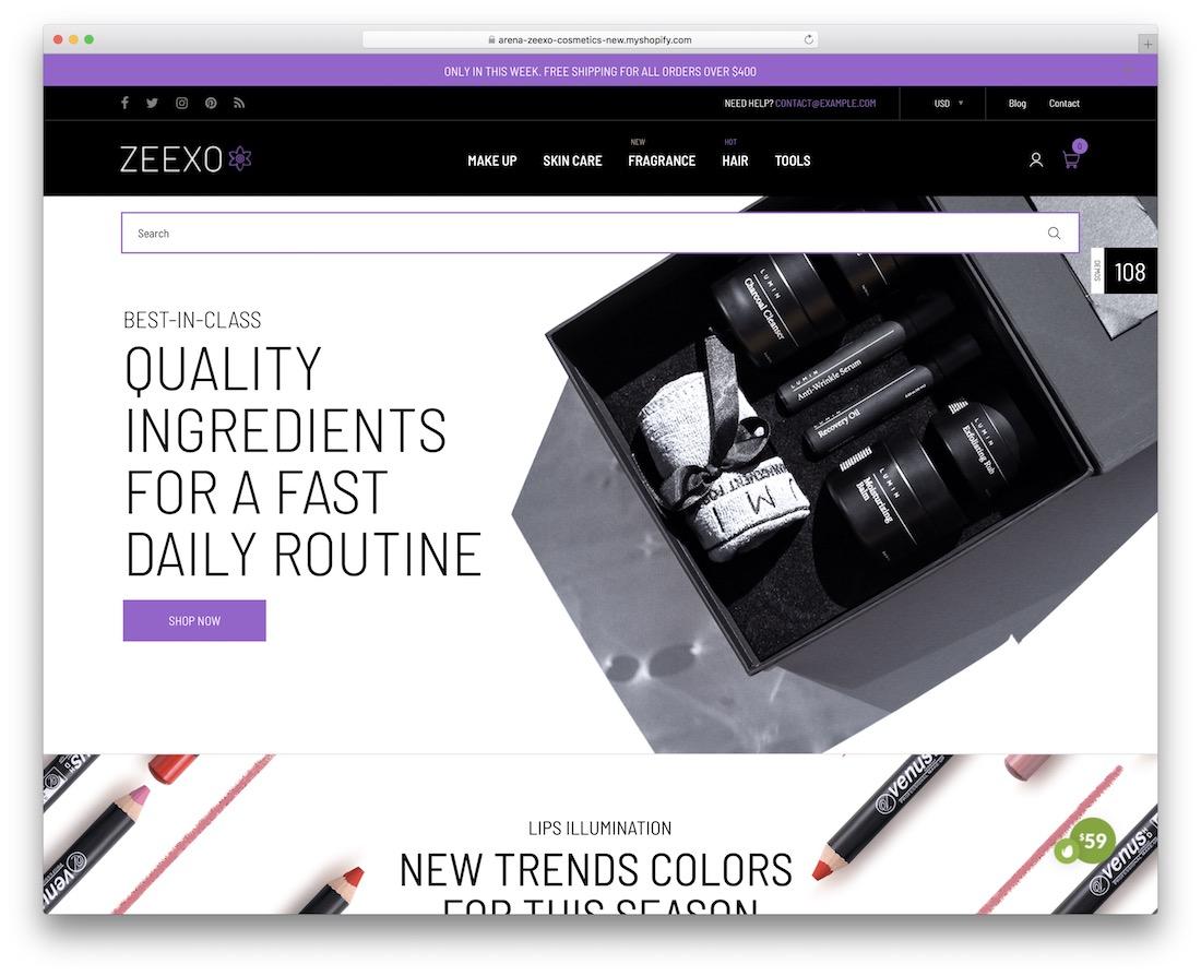 zeexo shopify landing page theme