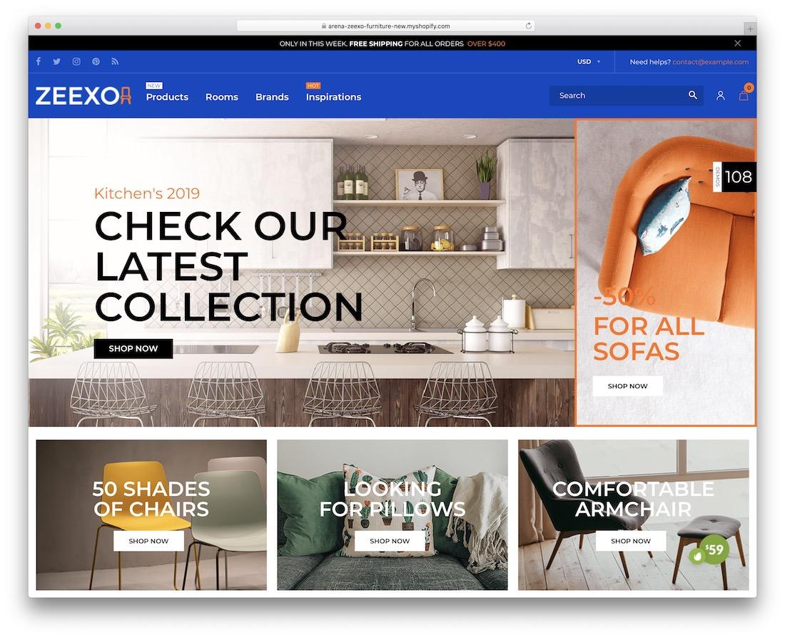 zeexo shopify real estate theme
