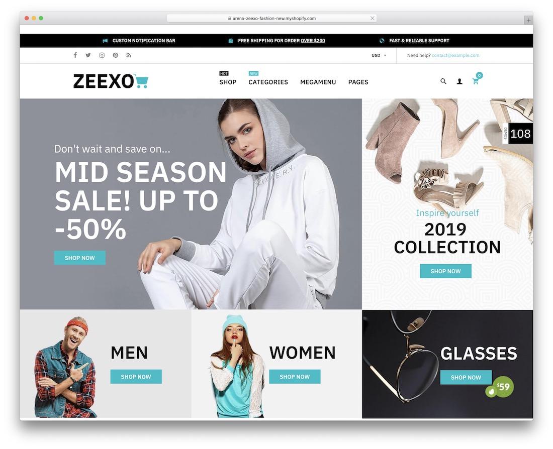 zeexo shopify subscription theme