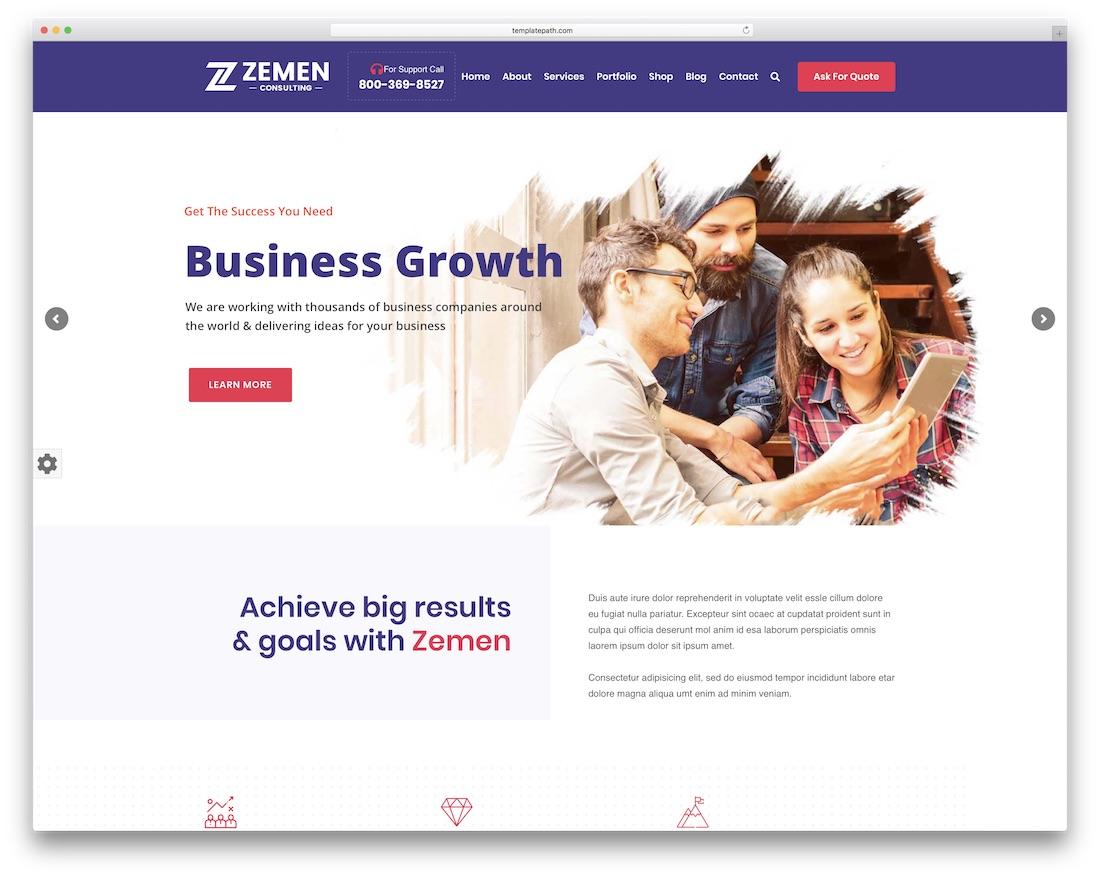 zemen drag and drop wordpress theme