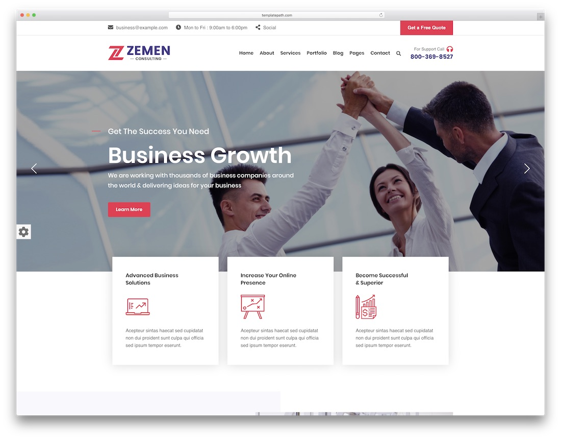 zemen popular wordpress theme