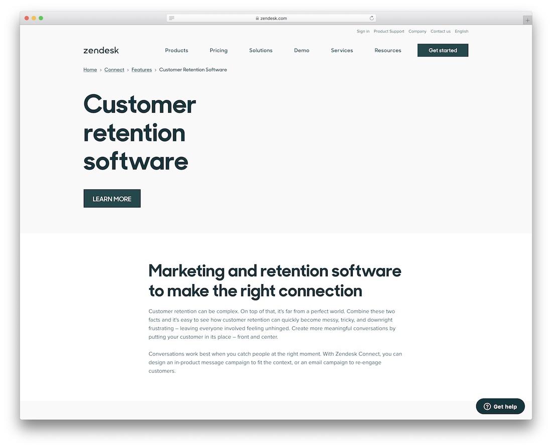 zendesk customer retention software