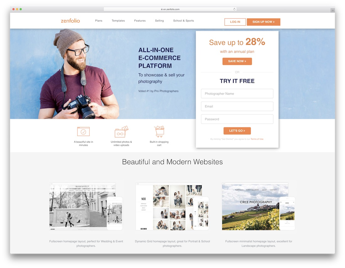 zenfolio best website builder for photographers