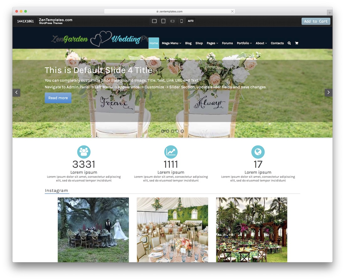 zengardenwedding free wordpress theme