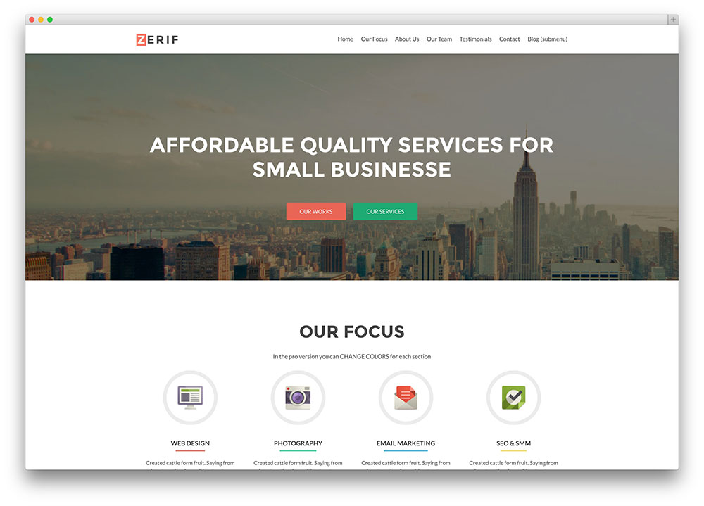 30 free responsive wordpress business themes 2018 colorlib zerif lite corporate theme wajeb Image collections