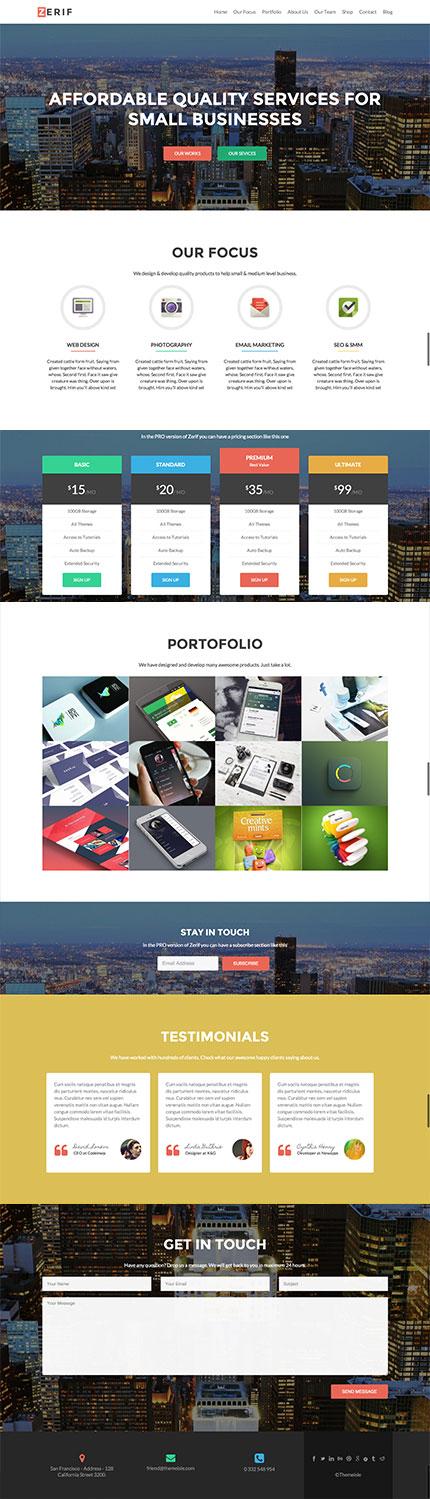 zerif pro - startup wordpress theme