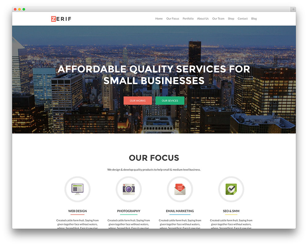 zerif pro business theme