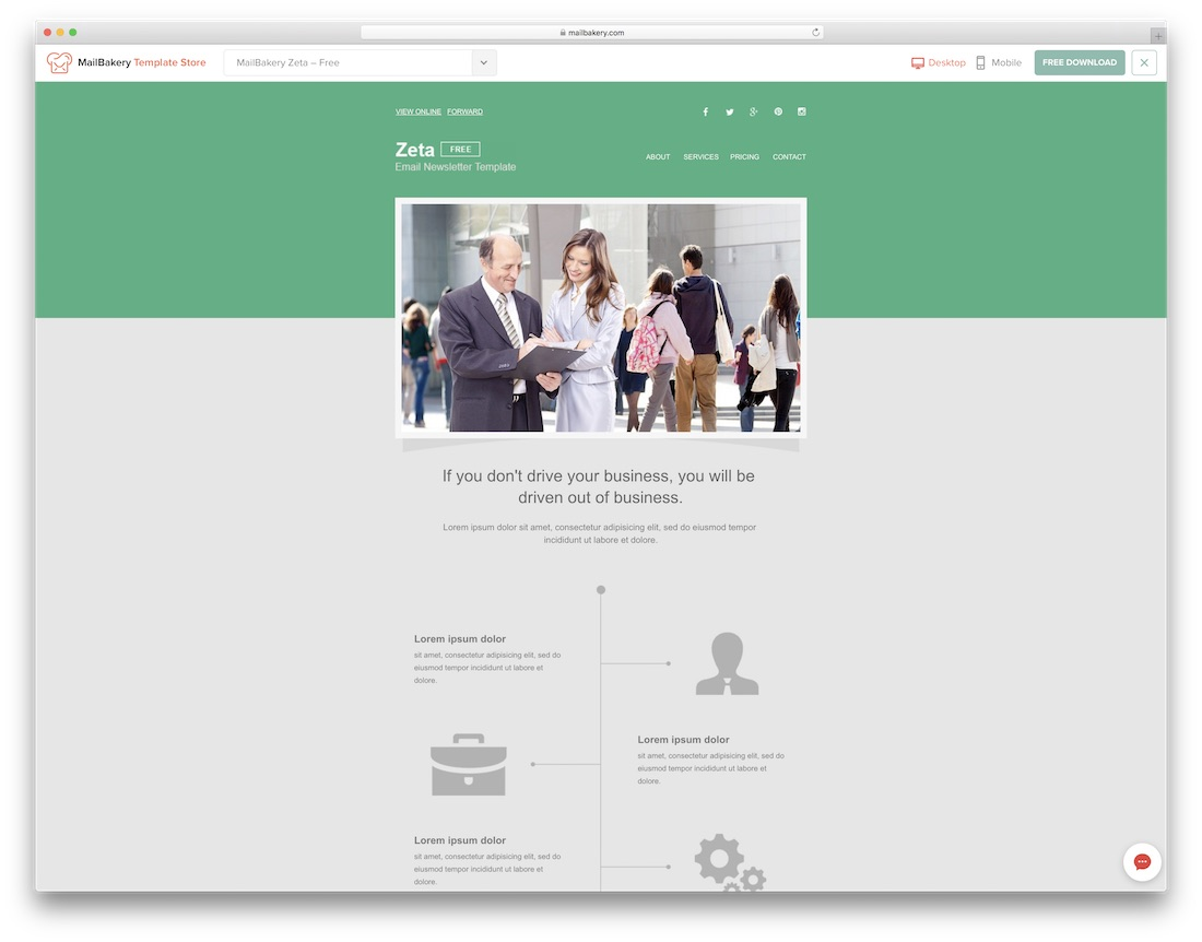 zeta responsive html email template