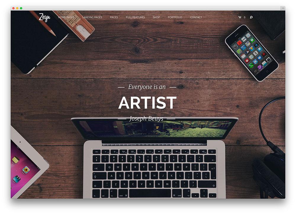zeyn artistic corporate consulting wordpress theme