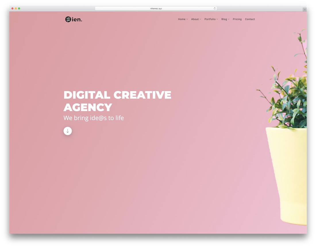 zien artist website template