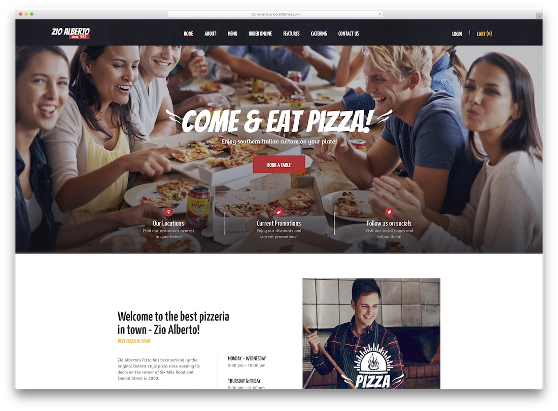 zio alberto catering wordpress theme