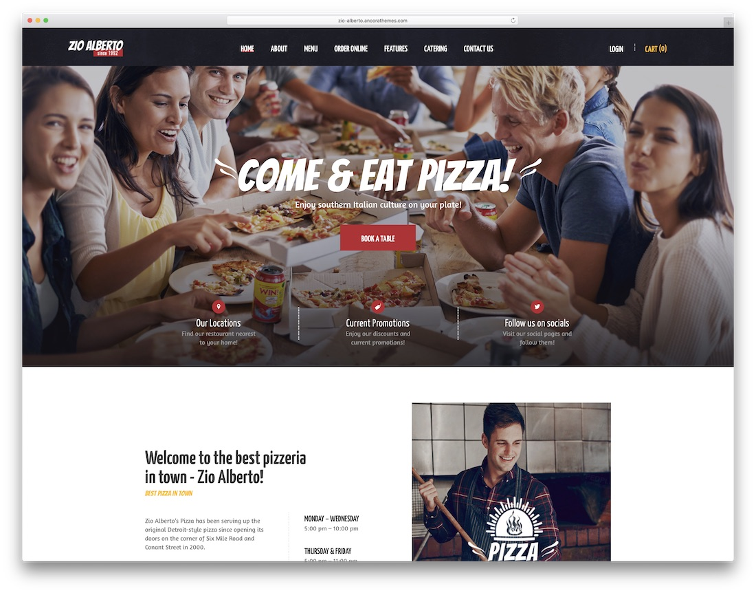 zio alberto pizza house wordpress theme
