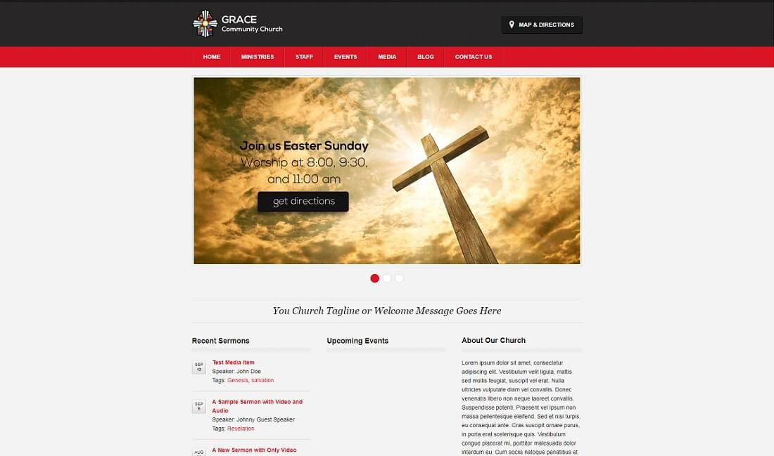 14 best free church website templates 2017 colorlib zion free church website template pronofoot35fo Image collections
