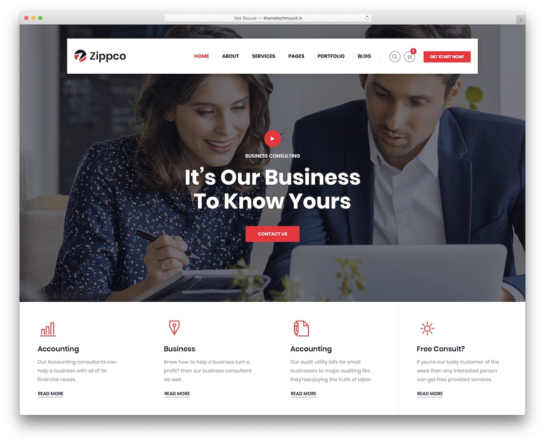 zippco wordpress insurance theme