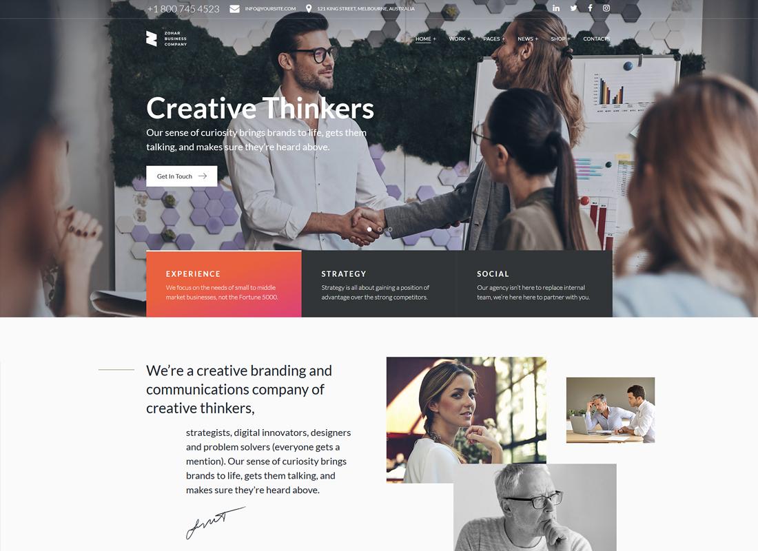 Zohar | Business Consulting Elementor WordPress Theme